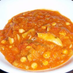 Moroccan Style Lamb And Chickpea Soup For Two recipe