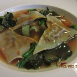 Mushroom Dumplings In Vegetable Broth recipe