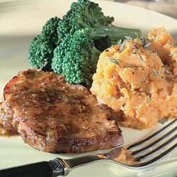 Skillet Ham with Ginger-Peach Glaze recipe