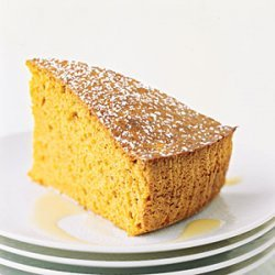 Spiced Sweet-Potato Cake with Custard Sauce recipe