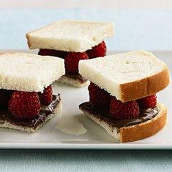 Nutella and Raspberry Sandwiches recipe
