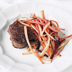 Steak with Root Vegetables recipe