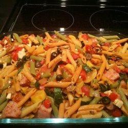 Zucchini, Sausage, and Feta Casserole recipe