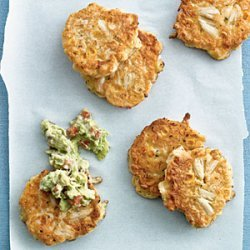 Corn and Crab Fritters with Guacamole recipe