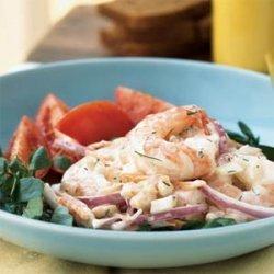 Shrimp and White Bean Salad with Creamy Lemon-Dill Dressing recipe