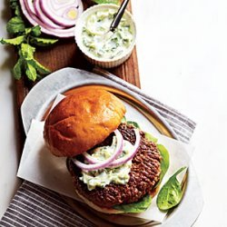 Lamb Burgers with Cilantro Raita recipe
