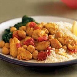 Curried Chicken and Chickpeas recipe