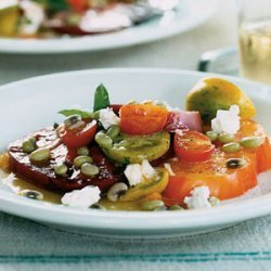 Heirloom Tomato Salad With Fresh Lady Peas recipe
