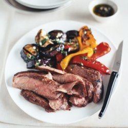 Grilled Flank Steak and Balsamic Vegetables recipe