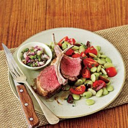 Lamb Chops and Cilantro Relish recipe