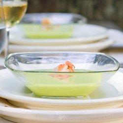 Avocado Soup With Marinated Shrimp recipe