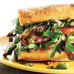 Steak Sandwiches with Fresh Herb Topping recipe