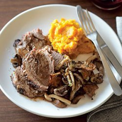 Pot Roast with Wild Mushrooms and Fresh Thyme recipe
