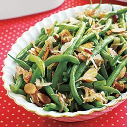 Green Beans with Shallots and Almonds recipe