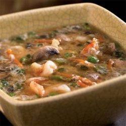 Shrimp and Egg Flower Soup recipe