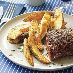 Roast Beef Tenderloin With Rosemary Roasted Potatoes recipe