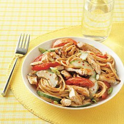 Asian Sesame Noodles with Chicken recipe