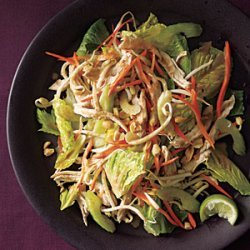 Thai Chicken Salad with Peanut Dressing recipe