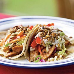 Pork Tacos with Slaw and Spicy Pepitas recipe