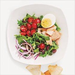 Tuna, Arugula, and Egg Salad with Pita Chips recipe