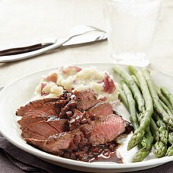 Sirloin Steak with Merlot-Balsamic Reduction recipe
