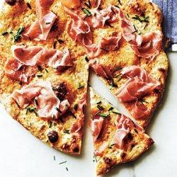 Prosciutto Pizza with Tangy White Sauce recipe