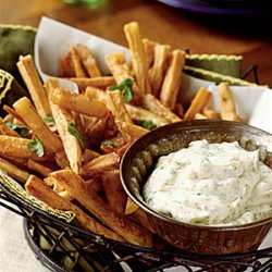 Yucca Fries with Cilantro Mayonnaise recipe