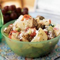 Greek Lamb and Potato Salad recipe