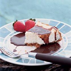 Creamy Cheesecake with Espresso Fudge Sauce recipe