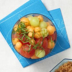 Melon Salad with Lime-Ginger Syrup recipe