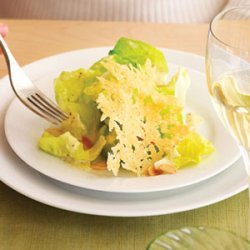 Butter Lettuce Salad with Parmesan Tuiles and Almonds recipe