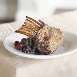 Rosemary-Crusted Rack of Lamb With Balsamic Sauce recipe