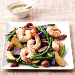 String Bean and Fingerling Potato Salad with Shrimp recipe