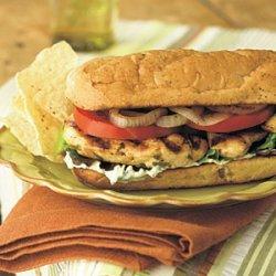 Grilled Chicken Mojito Sandwiches recipe