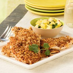 Peanut-Crusted Chicken with Pineapple Salsa recipe