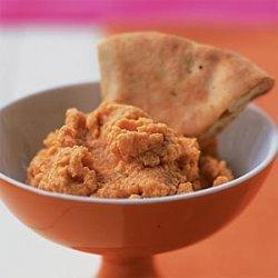 Spiced Red Lentil Dip with Pita Crisps recipe
