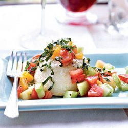 Parmesan Flans with Tomatoes and Basil recipe