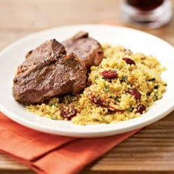 Broiled Cumin Lamb Chops with Curried Couscous recipe