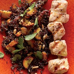 Warm Quinoa Salad with Carrots and Grilled Chicken recipe