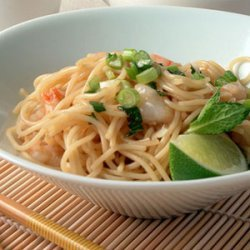 Noodle Salad with Shrimp and Mint recipe