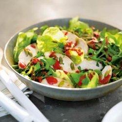 Chicken, Bibb, and Arugula Salad with Raspberry Vinaigrette recipe
