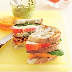 Tomato Club Sandwich recipe