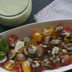 Supper's Baby Tomato Salad with Buttermilk Basil Dressing [Philly Homegrown] recipe