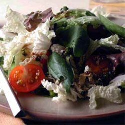 Cabbage and Mixed Greens Salad with Tangy Herb Vinaigrette recipe