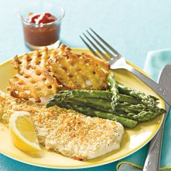 Crunchy Baked Flounder recipe