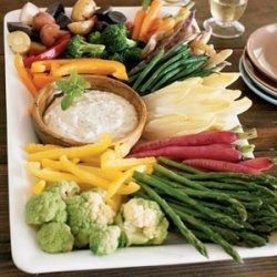 Crudite Platter with Roasted Garlic Aioli recipe