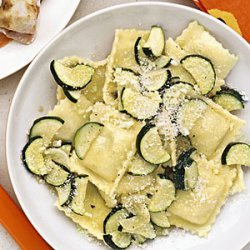 Ravioli with Sauteed Zucchini recipe