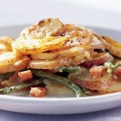 Potato Gratin with Baby Carrots and Asiago recipe