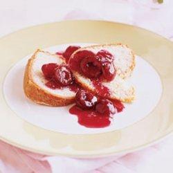 Lemon Pound Cake with Cherry Compote recipe