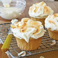 Coconut Cupcakes with Coconut-Cream Cheese Frosting recipe